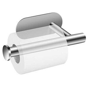 POOPHUNS Porte Papier Toilette Auto-adhésif 3M en Acier Inoxydable Support de Papier, Porte Rouleau Papier Toilettes sans Percage, Porte Rouleau Papier WC Derouleur - Publicité