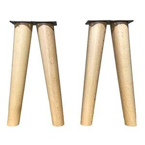 mobiliarioclichi Pieds de meubles en bois de htre. Pieds coniques avec inclinaison et plaque de montage déj installée. 8 cm de hauteur, couleur naturelle (25 cm naturel). Publicité