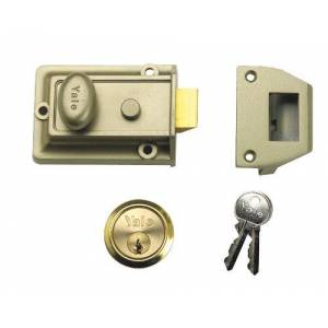 Yale Locks P77 ENB/PB Verrou de sreté traditionnel Visi Backset 60 mm (Import Grande Bretagne) - Publicité