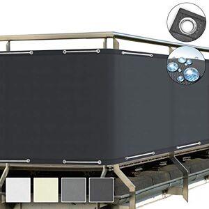 Sol Royal SolVision Brise Vue pour Balcon PB2 PES en Polyester 300x90 cm Anthracite avec Oeillets et Cordons - Publicité