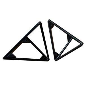 Zlovne 2 Pcs Métal paissir Le Fer Support D'étagre Mural Décoratif querre pour tagre D'angle,Triangle tagre Flottante Multifonctionnels Etagre Solide  Livre,avec Vis (20cm/7.9in,black) - Publicité