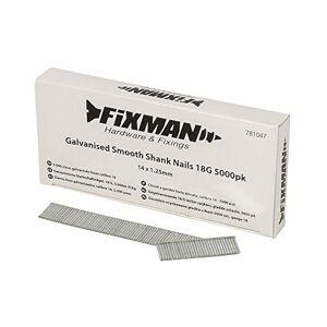 FIXMAN 781047galvanisé lisse Tige Clous, Argent, 18g, 5000 - Publicité