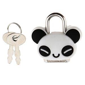 SODIAL Serrure De Securite Mini Cadenas Animal Mignon Poupee Bande Dessinee Verrou avec Cle Panda - Publicité
