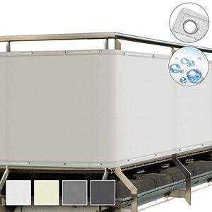 Sol Royal SolVision Brise Vue pour Balcon PB2 PES en Polyester 300x90 cm Blanc avec Oeillets et Cordons - Publicité