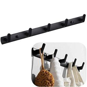 Spotact Porte Serviette Crochet, Porte-manteaux Muraux avec 5 Crochets, 17,7 x 1,3 pouces Porte-cintre Noir Moderne - Publicité