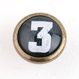 Poignée Bouton de Porte pour Armoire Tiroir Vintage Rétro Numéro 3 - Publicité