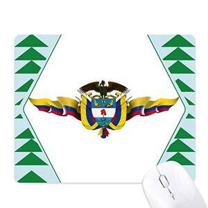 DIY amérique colombie pavillon emblme national tapis de souris green pine tree tapis en caoutchouc - Publicité