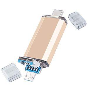 UFARID Clé USB 3.0 avec connecteur Micro USB et connecteur de Type C Memory Stick Pen Memory Drive OTG PenDrive pour Smartphones, Ordinateurs, tablettes (16GB, Beige) - Publicité