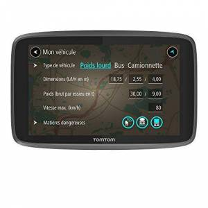 TomTom GPS Poids Lourds GO Professional 6200 6 pouces, Cartographie Europe 49, Trafic 1 an via Carte SIM Incluse - Publicité