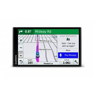 """Garmin GPS  DriveSmart 61 LMT-S (Europe du Sud) GPS 15 pays d'Europe Ecran 6.95"""" sans bords, reconnaissance vocale, Bluetooth, Wi-Fi - Publicité"""