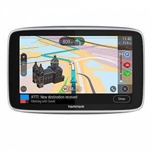 TomTom GPS Voiture GO Premium, 6 Pouces, Info Trafic, Alertes de Zones de Danger, Cartes Monde, Mise  Jour via WiFi, Appels mains-libres, Fixation Magnétique Alimentée - Publicité