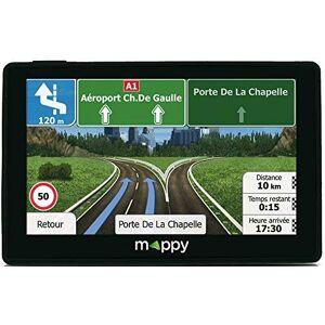 Mappy GPS voiture 4 Pouces GPS Iti E438T (cran : 4,3 Pouces 24 Pays Mise  jour gratuite jusqu' 4 fois par an) Noir - Publicité