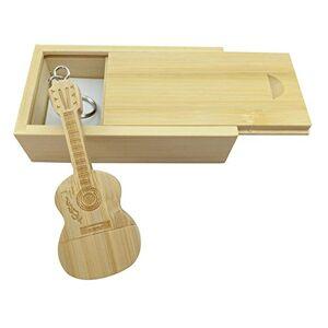 Meiyuexiang Clé USB en forme de guitare en bois d'érable 2.0/16GB Bois de bambou. Publicité