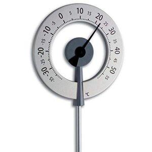 TFA-Dostmann TFA 12.2055.10 Lollipop Thermomtre de Jardin Design Anthracite avec Aiguille Noire - Publicité