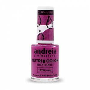 Andreia Professional NutriColor Vernis  Ongles Vegan Respirant NC19 Rose 10.5ml - Publicité