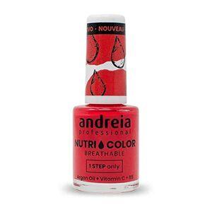 Andreia Professional NutriColor Vernis  Ongles Vegan Respirant NC16 Rouge 10.5ml - Publicité
