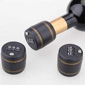 Sperrins Verrouillage du code de mot de passe de la bouteille, bouteille de vin et d'alcool Serrure de mot de passe de la bouteille  3 chiffres, serrure  combinaison de vin en plastique - Publicité
