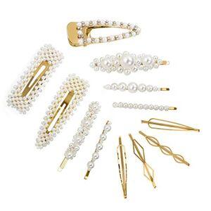 CINEEN pingles  Cheveux De Perle Artificielle Décorative Barrettes Accessoires légantes pinces  cheveux pour mariée Demoiselle d'honneur Filles Femmes Enfants 12 Pices - Publicité