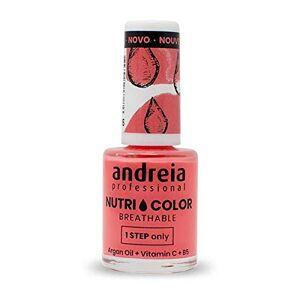 Andreia Professional NutriColor Vernis  Ongles Vegan Respirant NC15 Orange 10.5ml - Publicité