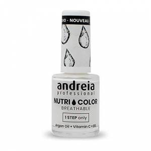 Andreia Professional NutriColor Vernis  Ongles Vegan Respirant NC1 Blanc 10.5ml - Publicité