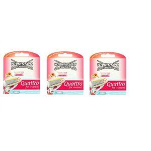 Wilkinson Sword Quattro Lot de 3 paquets de 18 lames de rasoir pour femmes - Publicité