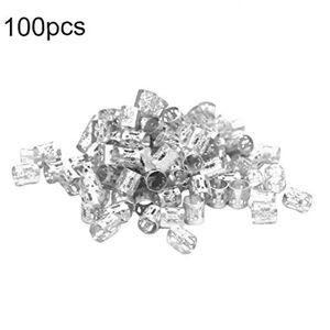 TOPofly 100 Pices Dreadlocks Perles Aluminium Dread Locks Métal Poignet Décoration Hair Braiding Bijoux De Cheveux (argent) - Publicité