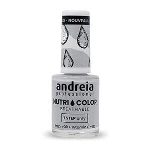 Andreia Professional NutriColor Vernis  Ongles Vegan Respirant NC3 Gris 10.5ml - Publicité