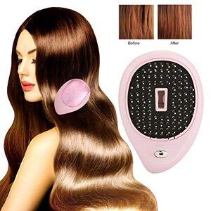 yuyte Portable électrique brosse à cheveux ionique, mini brosse à cheveux peigne cuir chevelu électrique Massant Caring Brush Vibration Massage peigne brosse à cheveux(Rose) - Publicité