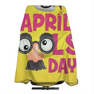 Reredith Happy April Fools Day Mignon Salon Cheveux Coupe Barbiers Cape Robe Coupe De Cheveux Tablier Teinture Styling Cloth - Publicité