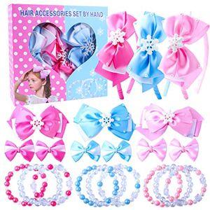 Candygirl Fille Bébé Serre-Tte Ensemble Doux Bandeau Enfants avec pingle  Cheveux lastique Bracelet Perles Bijoux Fantaisie Cadeau - Publicité