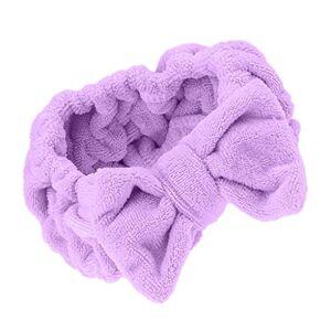 MagiDeal Mignon Nud  Deux Boucles Bandeau Bande Elastique Serre Tete Cheveux Maquillage Douche Baignoire Spa Violet - Publicité