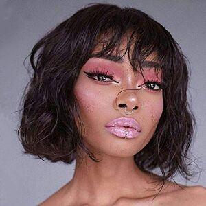 Ms Taj 58/5000 perruques de cheveux humains pour les femmes noires noir naturel densité de 150% (vivi) - Publicité