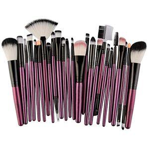 Kingnew 25pcs Set Pinceaux Maquillage Professionnel, Fibres Synthétiques Souples, Cosmétique Brush Beauté Maquillage Brosse Makeup Brushes pour Tous Types de Maquillage (4) - Publicité