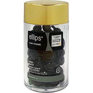 Ellips 1 flacon de Vitamines pour cheveux (SHINY BLACK), réparation capillaire (50 gélules) - Publicité