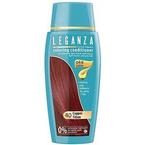 Leganza , teinture baume pour les cheveux sans ammoniaque couleur cuivre rouge N40, 7 huiles naturelles. Publicité
