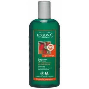 Logona 1003shaener Soin et Beauté du Cheveu Shampooing Age Energy  la Caféine Bio et aux Baies de Goji - Publicité