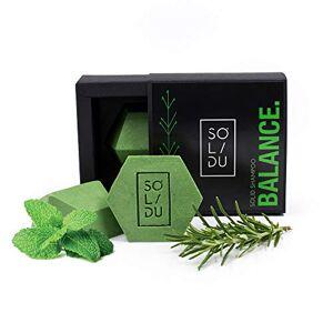 SOLIDU Barre de shampoing solide pour cheveux gras savon pour cheveux premium au romarin et  la menthe et au beurre de cacao savon fait main pour laver les cheveux adapté aux végétaliens, zéro déchet - Publicité