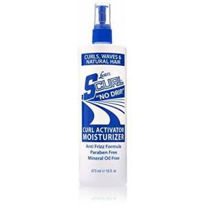 Lusters Luster's Brillantine S-Curl No Drip Activateur Hydratant pour Cheveux Bouclés Ondulés et Naturels  la Vitamine B5 473ml - Publicité