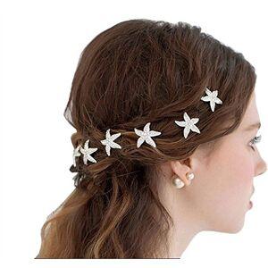 FYX 10 Pcs Cristal Épingles à Cheveux Étoile de Mer Pinces à Cheveux Chignon de Mariage Clips Mariée - Publicité