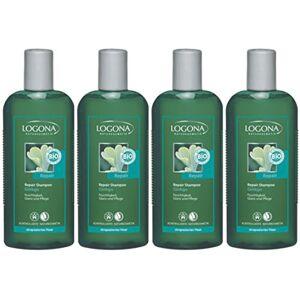 Logona Shampooing réparateur Ginkgo–Cheveux Abîmés–4x 250ml - Publicité