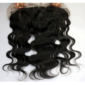 "Evermagic Hair Length 8"" 10"" 12"" 14"" 16""18""20"" 100% Brazilian Human Hair Lace Frontal Closure Ear to Ear Natural Black Body Wavy(Lace 13""X4"" 14"") - Publicité"