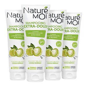 Naturé moi Shampooing extra-doux  l'extrait d'amande douce de Provence bio  Rend les cheveux doux et brillants  250ml - Publicité