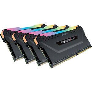 Corsair Vengeance RGB PRO Kit de Mmorie Enthousiaste (32Go (4x8Go), DDR4, 2666MHz, C16, XMP 2.0) Eclairage LED RGB dynamique Noir - Publicité