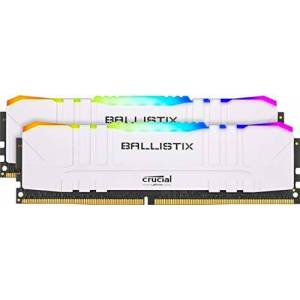 Crucial Ballistix BL2K16G30C15U4WL RGB, 3000 MHz, DDR4, DRAM, Mémoire Kit pour PC de Gamer, 32Go (16Go x2), CL15, Blanc - Publicité