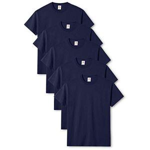 Fruit of the Loom Original T T-Shirt, Bleu (Navy 32), M (Lot de 5) Homme - Publicité