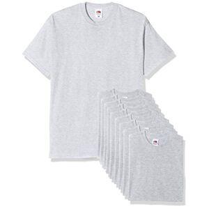 Fruit of the Loom Original T. T-Shirt, Gris, XL (Lot de 10) Homme - Publicité