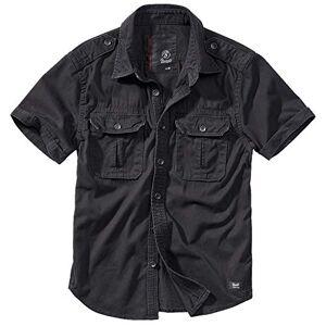 Brandit Vintage Chemise à Manches Longues Et à Manches Courtes, Tailles S À 7XL Noir à Manches Courtes, XXL - Publicité