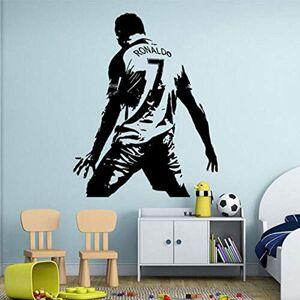 bentena stickers muraux 3d Cristiano Ronaldo Autocollant Mural En Vinyle Pour Enfants Joueur De Football Joueur Amovible Stickers Salon pour Pépinire Enfants Chambre Garon Cadeau - Publicité
