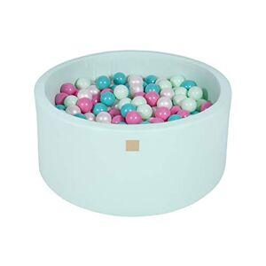 MEOWBABY Piscine  Balles 90X40cm/300 Balles  7Cm pour Bébé Enfant Rond Fabriqué en UE Menthe: Perle Blanche/Turquoise/Rose Clair/Menthe - Publicité