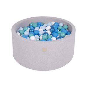 MEOWBABY Piscine  Balles 90X40cm/300 Balles  7Cm pour Bébé Enfant Rond Fabriqué en UE Gris Clair: Blanc/Bleu/Turquoise/Bleu Bébé/Bleu Perle - Publicité